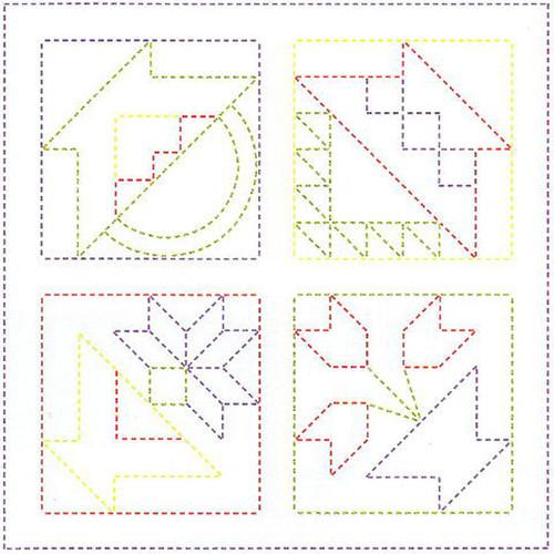 Tulip KSW-008 SASHIKO WORLD Embroidery Kit America Flower Basket