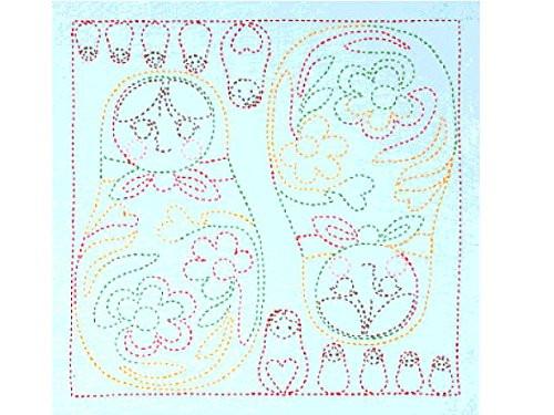Tulip KSW-016 SASHIKO WORLD Embroidery Kit Russia Matryoshka Doll