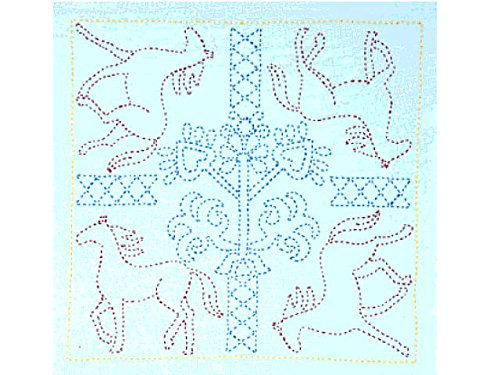 Tulip KSW-015 SASHIKO WORLD Embroidery Kit Russia Galloping Horses