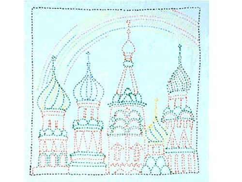 Tulip KSW-014 SASHIKO WORLD Embroidery Kit Russia Rainbow Palace