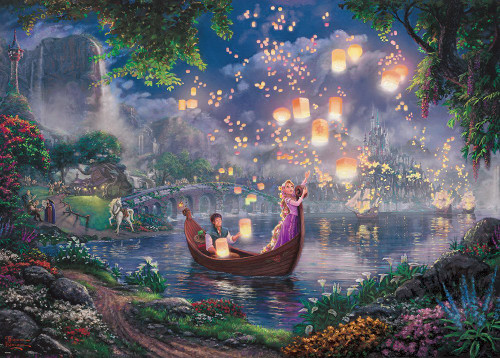 Tenyo Japan Jigsaw Puzzle D-2000-625 Thomas Kinkade Disney Tangled Rapunzel (2000 Pieces)