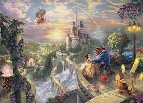 Tenyo Japan Jigsaw Puzzle D-2000-624 Disney Beauty and the Beast (2000 Pieces)