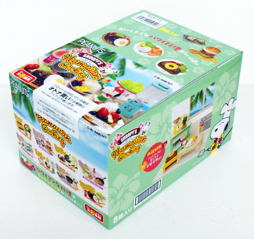 Re-ment 250557 SNOOPY Hawaiian Cooking 8 Figure Complete BOX set
