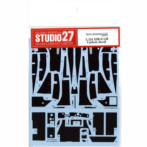 Studio27 ST27-CD24029 XJR-9 LM Carbon Decal for Tamiya 1/24