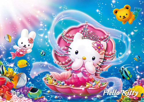 Beverly Jigsaw Puzzle 108-823 Hello Kitty Mermaid Princess (108 Pieces)