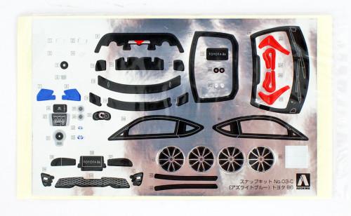 Aoshima 55984 Toyota 86 Azurite-Blue 1/32 pre-painted kit