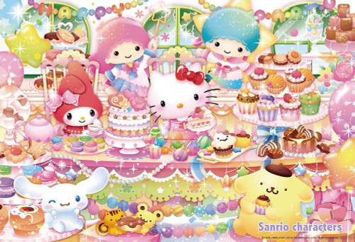 Beverly Jigsaw Puzzle 33-134 Sanrio Characters Happy Sweets Party (300 Pieces)