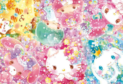 Beverly Jigsaw Puzzle 31-483 Sanrio Characters Florarium (1000 Pieces)