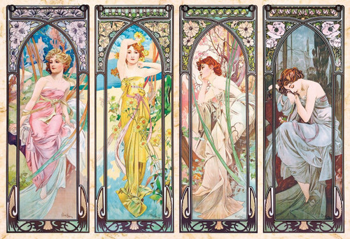 Epoch Jigsaw Puzzle 31-005 Art Mucha Trust Four Seasons Story (1053 S-Pieces)