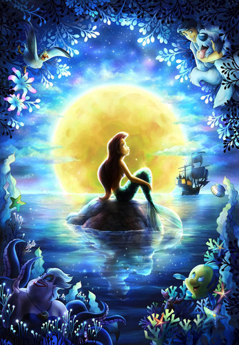Tenyo Japan Jigsaw Puzzle D-1000-027 Disney Little Mermaid Ariel (1000 Pieces)