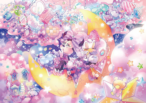 Tenyo Japan Jigsaw Puzzle DW-1000-002 Minnie & Daisy Crescent Moon (1000 S-Pcs)