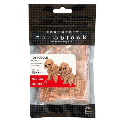 Kawada NBC-252  nanoblock Dog Breed Toy Poodle