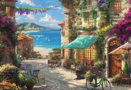 Beverly Jigsaw Puzzle 93-137 Thomas Kinkade Cafe Sicily (300 Pieces)