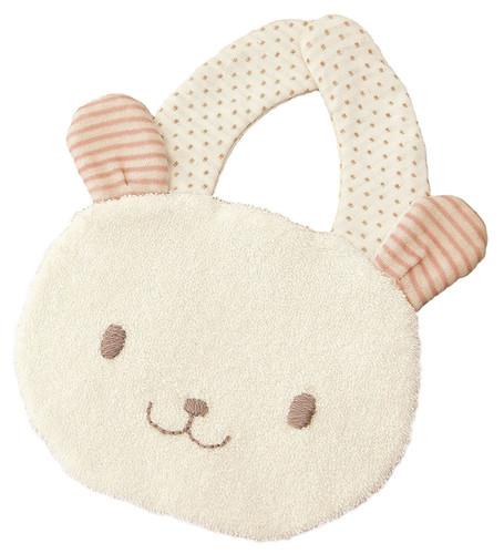 Hamanaka H434-535 Organic Cotton Handicraft Kit Baby Bib Rabbit