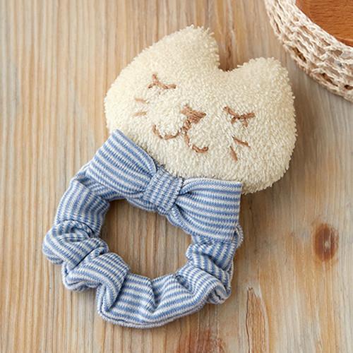 Hamanaka H434-531 Organic Cotton Handicraft Kit Baby Rattle Cat with Chouchou