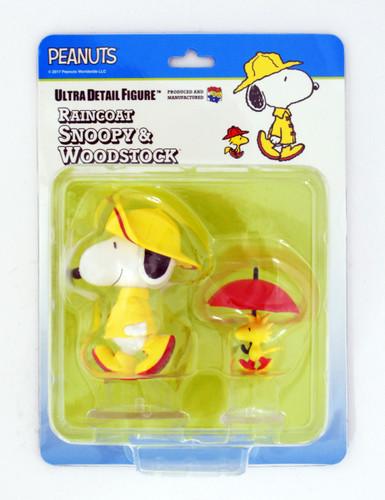 Medicom UDF-377 Ultra Detail Figure Peanuts Series 7 Rain Coat Snoopy & Woodstock