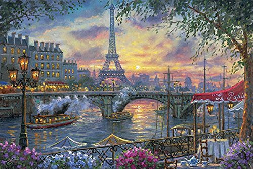 APPLEONE Jigsaw Puzzle 1000-824 Robert Finale Twilight Paris (1000 Pieces)