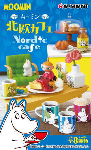 Re-ment 204031 MOOMIN Nordic Cafe 1 Box 8 Figures Complete Set