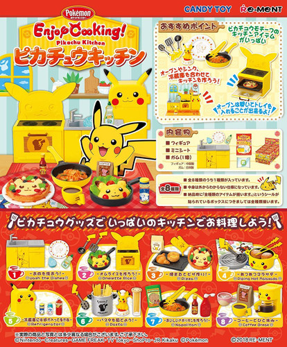 Re-ment 204192 Pokemon Enjoy Cooking! Pikachu Kitchen 1 BOX 8 Figures Complete Set