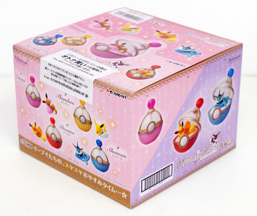 Re-ment 204260 Pokemon Eevee & Friends Dreaming Case 1 BOX 4 Figures Complete Set