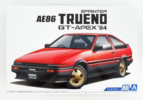 Aoshima 55946 The Model Car 86 Toyota AE86 Sprinter Trueno GT-APEX 1984 1/24 scale kit