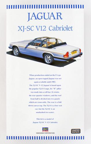 Hasegawa 20352 Jaguar XJ-SC V12 Cabriolet 1/24 scale kit