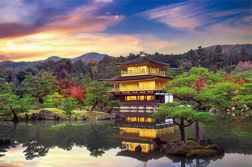 Yanoman Jigsaw Puzzle 10-1315 Kinkaku-ji Kyoto Japan (1000 Pieces)