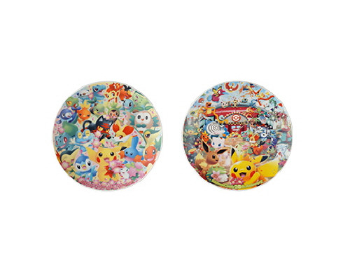 Pokemon Center Original Decorative Plate 2 set Pokemon Center 20th Anniversary 602-