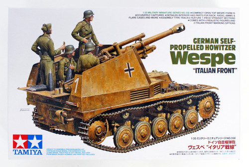 Tamiya 35358 German Self-Propelled Howitzer Wespe 'Italian Front' 1/35 Scale Kit