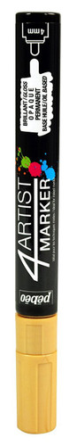 Gaianotes GPM01559 Opaque 4 Artist Marker 4mm Gold Hobby Tools