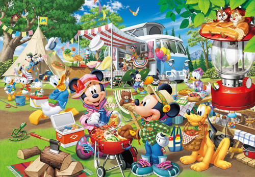 Tenyo Japan Jigsaw Puzzle D-1000-026 Disney Mickey & Minnie Camping (1000 Pieces)