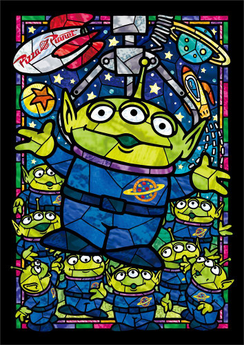 Tenyo Japan Jigsaw Puzzle DSG-266-958 Disney Toy Story Little Green Men Stained Glass (266 Pieces)