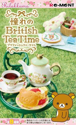 Re-ment 171180 Rilakkuma British Tea Time 1 BOX 8 pcs. Complete Set