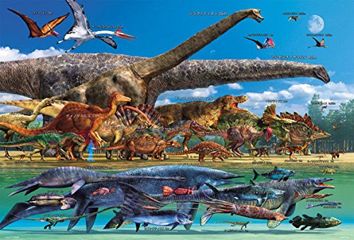 Beverly Jigsaw Puzzle 61-431 Dinosaur World Size Chart (1000 Pieces)