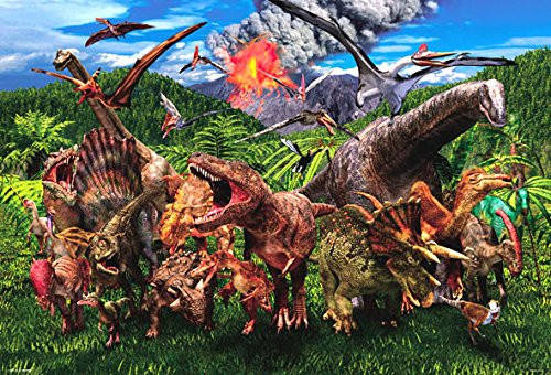 Beverly Jigsaw Puzzle 61-430 Dinosaur World (1000 Pieces)