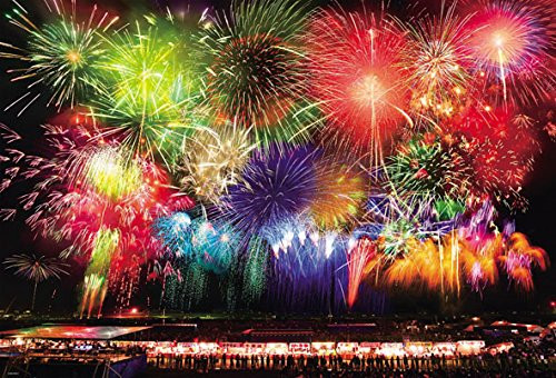 Beverly Jigsaw Puzzle 31-488 Japanese Scenery Omagari Fireworks (1000 Pieces)