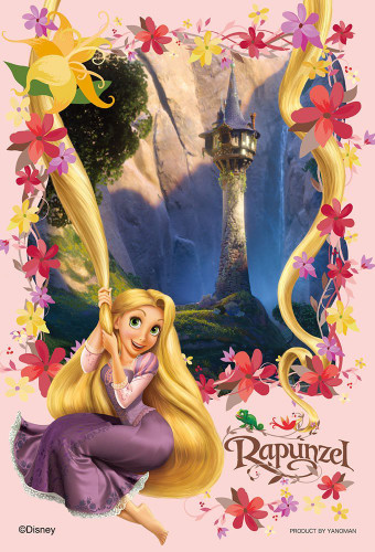 Yanoman Jigsaw Puzzle 99-451 Disney Tangled Rapunzel Princes in the Tower (99 Small Pieces)