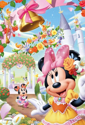 Yanoman Jigsaw Puzzle 99-454 Disney Minnie Flower Country (99 Small Pieces)