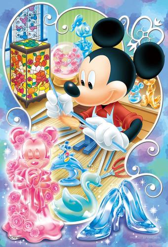 Yanoman Jigsaw Puzzle 99-449 Disney Mickey Glass Artist (99 Small Pieces)