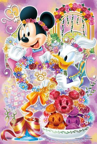Yanoman Jigsaw Puzzle 99-448 Disney Minnie & Daisy Flower Arrangement (99 Small Pieces)