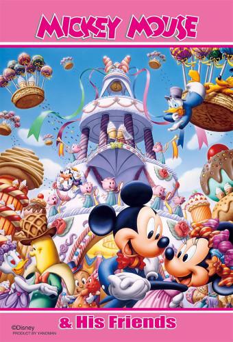 Yanoman Jigsaw Puzzle 99-438 Disney Mickey Minnie Dance Party (99 Small Pieces)