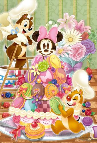 Yanoman Jigsaw Puzzle 99-444 Disney Chip 'n Dale Macaron Tree (99 Small Pieces)