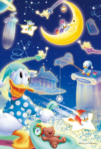 Yanoman Jigsaw Puzzle 99-446 Disney Donald Duck Star Country (99 Small Pieces)