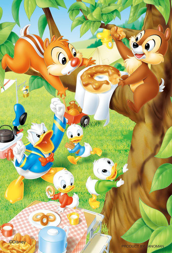 Yanoman Jigsaw Puzzle 99-440 Disney Donald Chip 'n Dale Donut (99 Small Pieces)