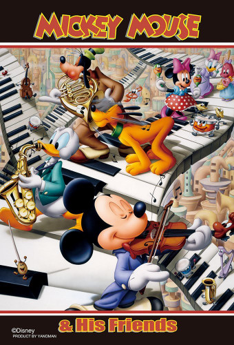 Yanoman Jigsaw Puzzle 99-437 Disney Mickey & Friends Concert  (99 Small Pieces)
