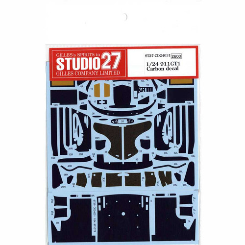 Studio27 ST27-CD24031 911GT1 Carbon Decal for Tamiya 1/24 Scale