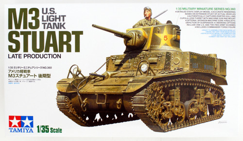 Tamiya 35360 U.S. Light Tank M3 Stuart Late Production 1/35 Scale Kit