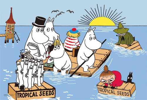 Yanoman Jigsaw Puzzle 03-875 Moomin and the Sea (300 Pieces)