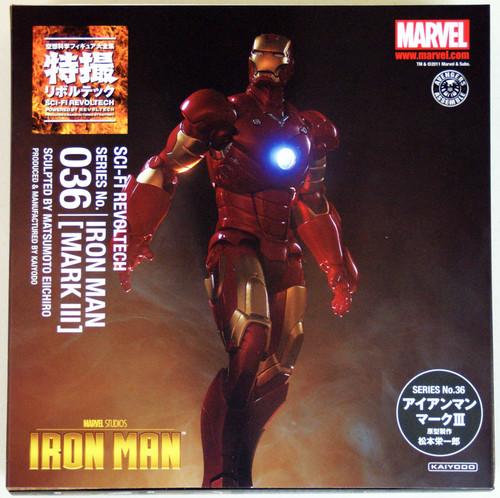 Kaiyodo Sci-Fi Revoltech 036 Iron Man Mark III (Ironman Mark 3) Figure