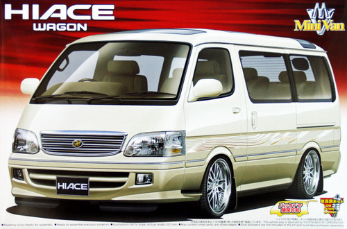 Aoshima 49372 Toyota Hiace Wagon Super Custom with option wheel 1/24 Scale Kit
